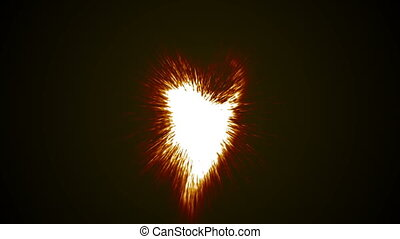 Fire glow special effect abstract particle beams Shine fly. On the brown background red background white explosion