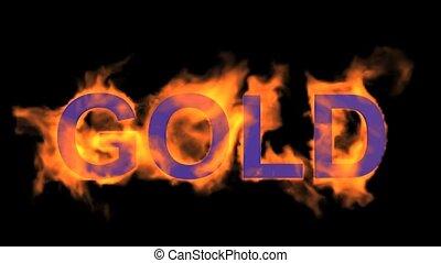 fire gold...