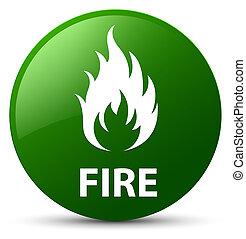 Fire green round button