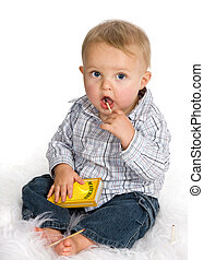 Fire hazard - Curious baby playing a dangerous game with ...