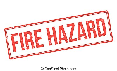 Fire Hazard rubber stamp on white. Print, impress, overprint...