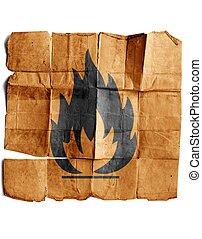 Fire Hazard warning symbol