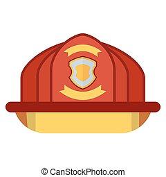 fire helmet on white
