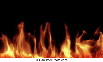 High quality computer generated fire background.