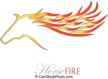 Fire horse vector logo