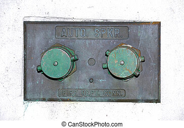 Fire Hose Connection - Photo of a Fire Hose Connection