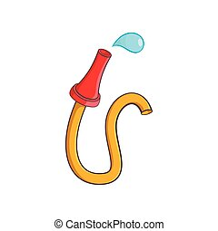 Fire hose icon, cartoon style