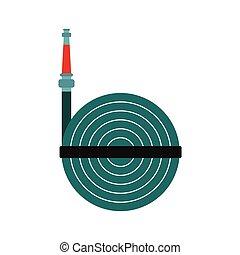 Fire hose winder roll reels icon
