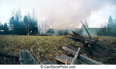 fire house near forests Full HD Footage
