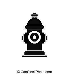 Fire hydrant black simple icon