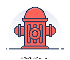 Fire hydrant. Filled outline icon.