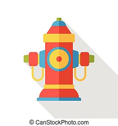 fire hydrant flat icon