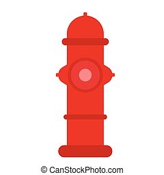 Fire hydrant flat illustration