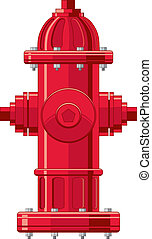 Fire Hydrant - Four color illustration of a fire hydrant can...