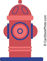 Fire hydrant geometric illustration isolated on white