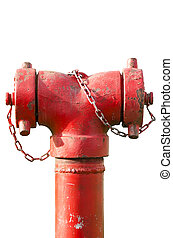 Fire hydrant hose connection fire