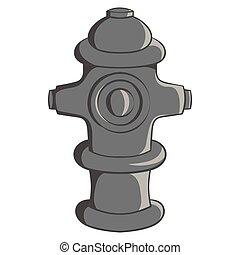 Fire hydrant icon, black monochrome style