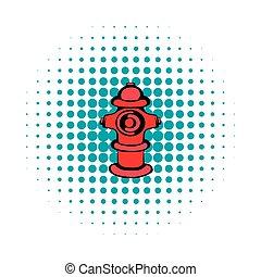 Fire hydrant icon, comics style
