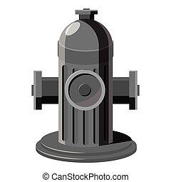 Fire hydrant icon, gray monochrome style