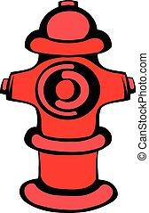 Fire hydrant icon, icon cartoon