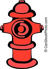 Fire hydrant icon, icon cartoon