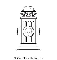Fire Hydrant Icon Isolated on White Background. Flat Style Logo for Fire Fighting