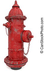 Fire hydrant isolated on the white background