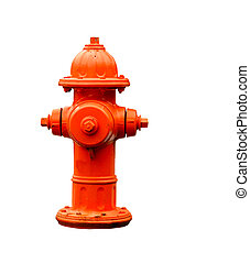 fire hydrant isolated with path