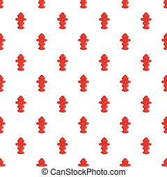 Fire hydrant pattern, cartoon style