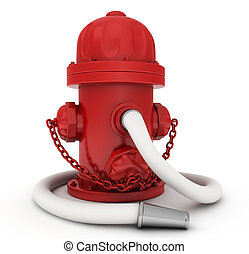 Fire Hydrant - 3D Illustration of a Fire Hydrant