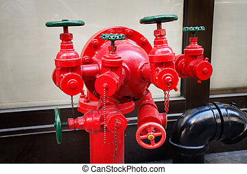 Fire hydrant - A 6-valves fire hydrant in East Village - New...