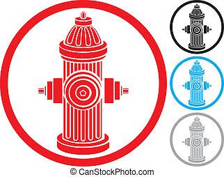 fire hydrant symbol, fire hydrant icon