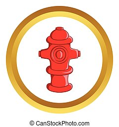 Fire hydrant vector icon