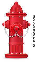 fire hydrant vector illustration isolated on white...
