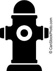 Fire hydrant vector silhouette icon - Fire hydrant black...