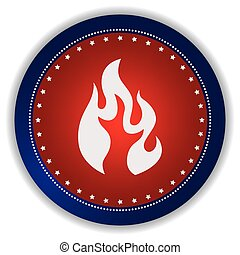 fire icon button