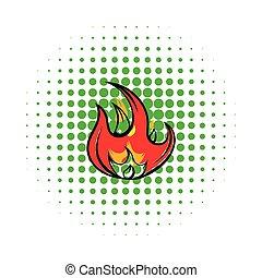 Fire icon, comics style