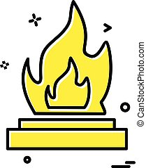 Fire icon design vector
