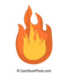 fire icon. Flame design. Vector graphic
