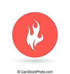 Fire icon. Flame sign. Flammable symbol. Vector illustration.