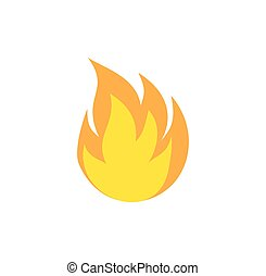 Fire Icon. Flat black pictogram. Illustration symbol. eps