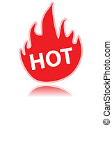 Fire icon - New fire icon on a white background