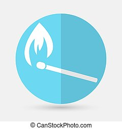 Fire icon on a white background