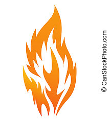 fire icon on a white background, vector illustration