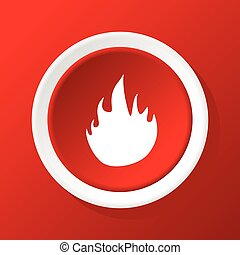 Fire icon on red