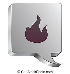Fire icon on steel bubble