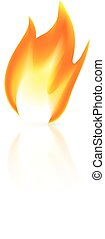 Fire icon on white background