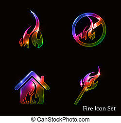 fire icon set