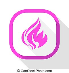 Fire icon, square button
