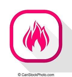 Fire icon, square button